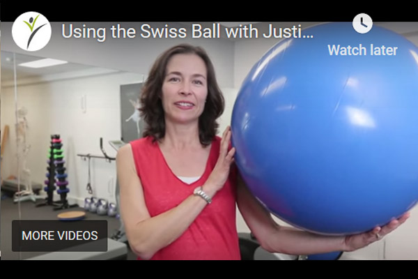 Using the Swiss Ball with Justine Trethewey
